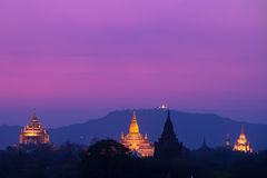 Pagodas in Bagan, Myanmar Stock Images