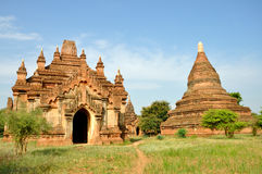 Pagodas in Bagan, Myanmar Royalty Free Stock Photography