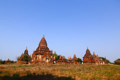 Pagodas in Bagan. The temples and pagodas stood on the plains of Bagan, in Myanmar (Burma stock image