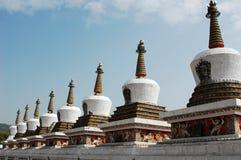 Pagodas bianchi Immagine Stock