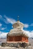 Pagodas bianchi tibetani Fotografia Stock