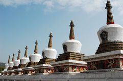 Pagodas blanches image stock