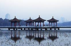 Pagodas in China. Pagodas at Nanhu Park, Changchun, China Stock Images