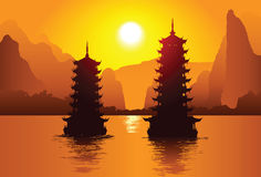 Pagodas chinoises Image libre de droits