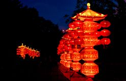 Pagodas chinoises de lanterne Photographie stock