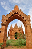 Pagodas dans Bagan, Myanmar Images libres de droits