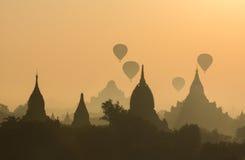 Pagodas de Bagan foto de archivo libre de regalías