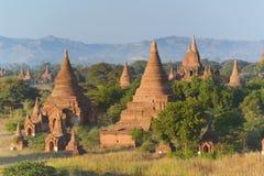 Pagodas de Bagan Imágenes de archivo libres de regalías