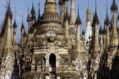 Pagodas de Birmania/de Indein Foto de archivo libre de regalías