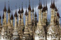 Pagodas de Burma/Indein Foto de Stock Royalty Free