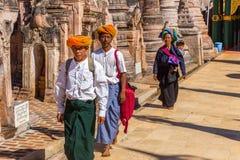 Pagodas de Kakku, en Myanmar imágenes de archivo libres de regalías