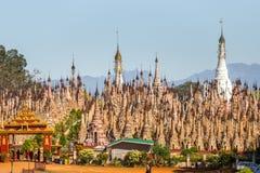 Pagodas de Kakku, en Myanmar imagen de archivo