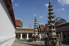 Pagodas de Wat Pho_Chinese Foto de Stock Royalty Free
