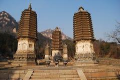 Pagodas di Yinshan Immagine Stock Libera da Diritti
