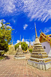 Pagodas of died people at Wat Pho Stock Image