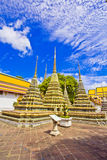 Pagodas of died people at Wat Pho Royalty Free Stock Image