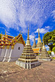 Pagodas of died people at Wat Pho Royalty Free Stock Images