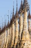 Pagodas en Kakku foto de archivo