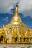 Pagodas encircle the gilded stupa of Shwedagon Pagoda Royalty Free Stock Image