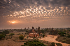 Pagodas Field in bagan Stock Photography