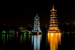 Pagodas, Guilin, China Royalty Free Stock Photos