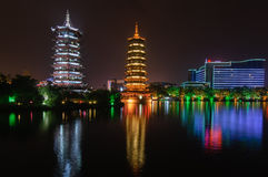 Pagodas guilin china Royalty Free Stock Photo