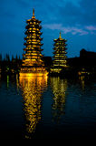 Pagodas Guilin, China Royalty Free Stock Image