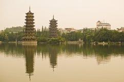 Pagodas Guilin, China Stock Photo