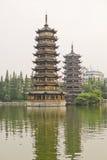 Pagodas Guilin, China Stock Photography
