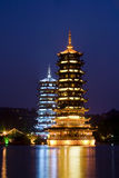 Pagodas in Guilin, China Royalty Free Stock Photo