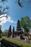 The pagodas inside Pura Taman Ayun in Bali, Indonesia. View of the pagodas inside Pura Taman Ayun in Bali, Indonesia stock photo