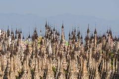 Pagodas at Kakku Stock Photo