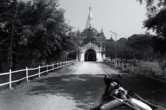 Pagodas at Myanmar. Black and white pagodas at Myanmar Stock Image