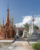 Pagodas in Myanmar Royalty Free Stock Photography