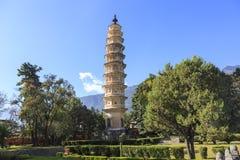 Pagodas park in Dali. Yunnan Province , China Stock Image