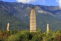 Pagodas park in Dali. Yunnan Province , China Stock Photo