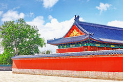 Pagodas, pavilions within the complex of the Temple of Heaven in Stock Photography