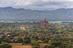 Pagodas and spires of the temples in Bagan, Myanmar. Pagodas and spires of the temples of the World Heritage at Bagan, Maynmar Stock Photos