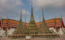 Pagodas in the temple royalty free stock photography