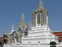 Pagodas at  Temple of the Emerald Buddha. Pagodas at Wat Phra Kaew - Temple of the Emerald Buddha, which is regarded as the most sacred Buddhist temple (wat) in Stock Image