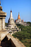 Pagodas and temples in Bagan, Myanmar Stock Images