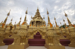 500 pagodas in thailand. 500 golden pagodas in Thailand Stock Photos