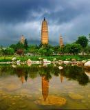 pagodas trois de dali Photos stock