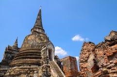 Pagodas viejas con el cielo azul Fotografía de archivo