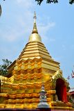 Pagodas of Wat Phan in chiang mai Royalty Free Stock Images
