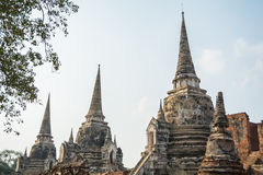 Pagodas in Wat Phra Si Sanphet Royalty Free Stock Images