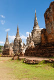 Pagodas at Wat Prasrisanphet, Thailand Stock Photo