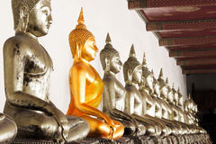 Pagodas on white Royalty Free Stock Images
