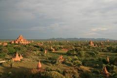 Pagodas y templos en Bagan, Birmania (Myanmar) Fotos de archivo