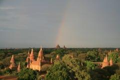 Pagodas y templos en pagano, Birmania (Myanmar) Imágenes de archivo libres de regalías